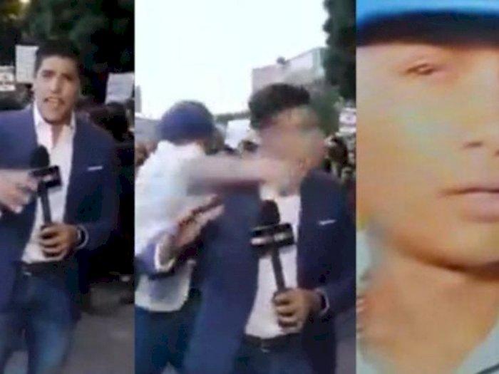 Reporter Ini Jadi Korban Pemukulan Saat Melaporkan Aksi Demo