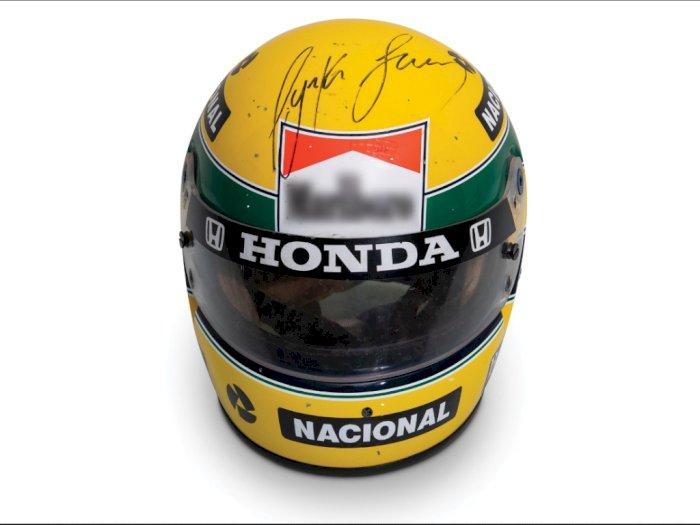 Helm Lawas Dengan Tanda Tangan Ayrton Senna Dijual Rp 1,4 Miliar