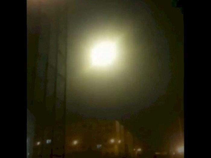 Beredar Video Diduga Pesawat Ukraina Ditembak Jatuh Rudal Iran