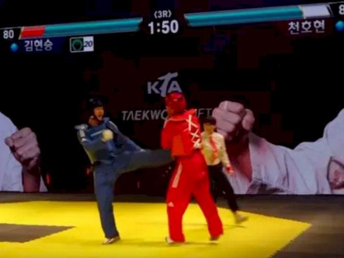Wih! Turnamen Taekwondo Ini Pakai 'Life Bar' Seperti di Game Fighting