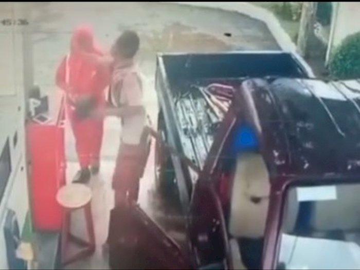 Viral Video Pengemudi Mobil Tampar Petugas SPBU di Parigi, Ingin Cepat Dilayani