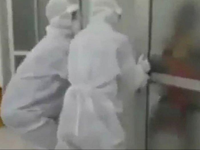 Viral Pria Tua PDP COVID-19 Mengamuk Tak Mau Diisolasi, Merasa Dipenjara