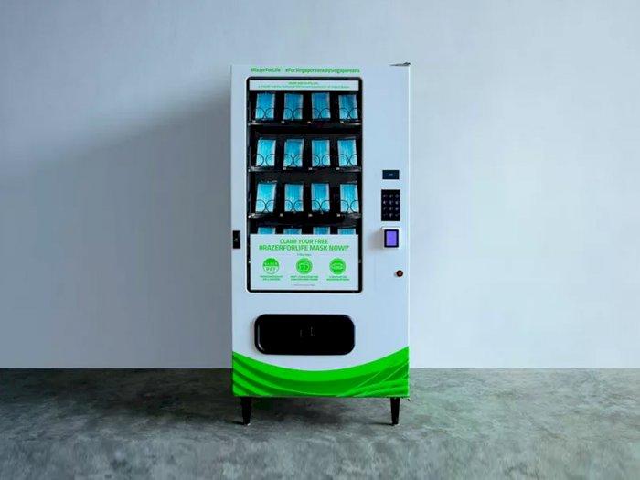 Razer Hadirkan Vending Machine Berisikan Masker Gratis di Singapura