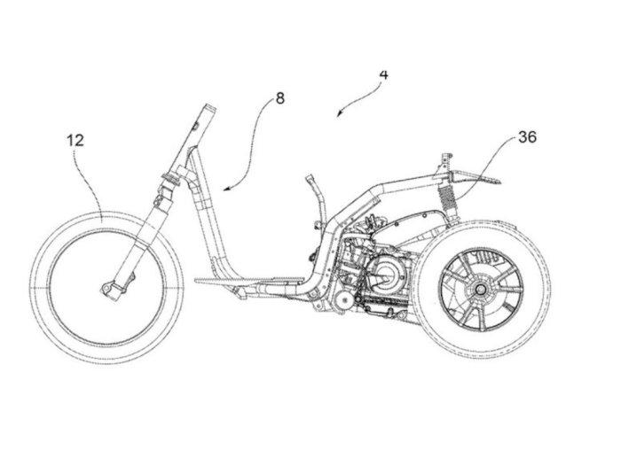 Piaggio Patenkan Desain Motor Roda Tiga Terbaru