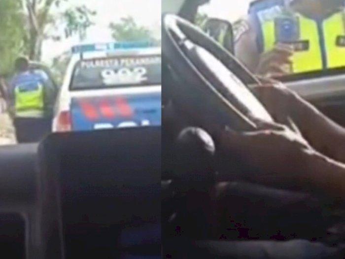 Video Polisi Tidak Jadi Tilang Pengendara Mobil, Setelah Tahu Alasannya, Malah Bantu Kawal