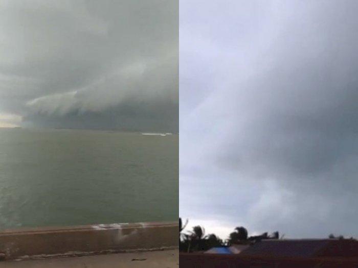 Heboh, Awan Aneh Ini Muncul Lagi di Atas Laut Meulaboh Aceh, 2 Kali Terjadi Hari Ini