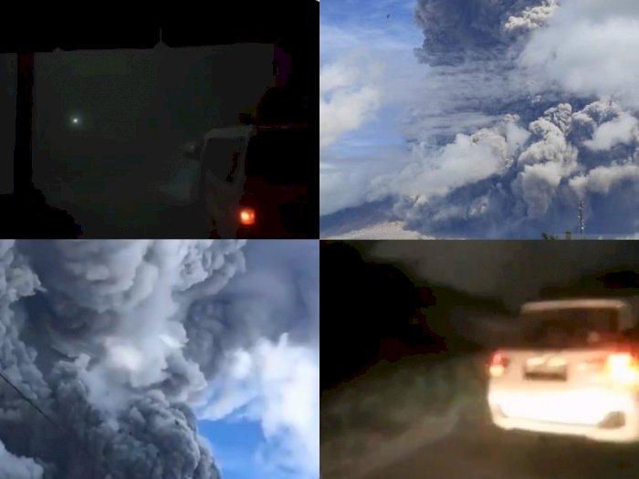 Ngerih, Beginilah Kondisi Desa Terdekat dari Gunung Sinabung Pasca Erupsi, Gelap Gulita!