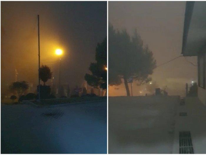 Anomali Erupsi Sinabung , Tiba-tiba Langit Cerah Berubah Jadi Gelap Seperti Malam