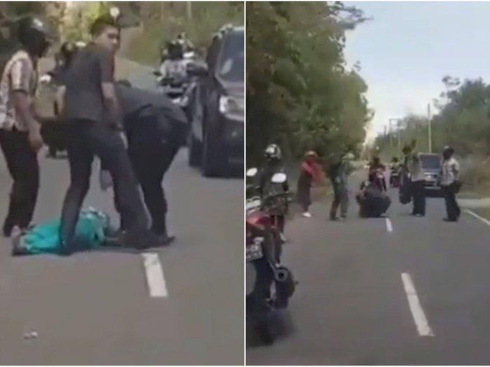 Kasihan, Pengendara Sepeda Motor Terkapar usai Tabrak Biawak di Jalan, Ini Videonya