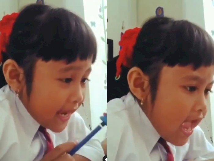 Viral Anak dan Ibu Beda Pendapat saat Belajar Bahasa Inggris di Rumah, Tonton Videonya