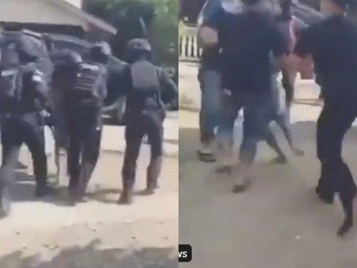 Ketua Adat Laman Kinipan Effendi Buhing Diseret Paksa Polisi, Istri Menangis Histeris