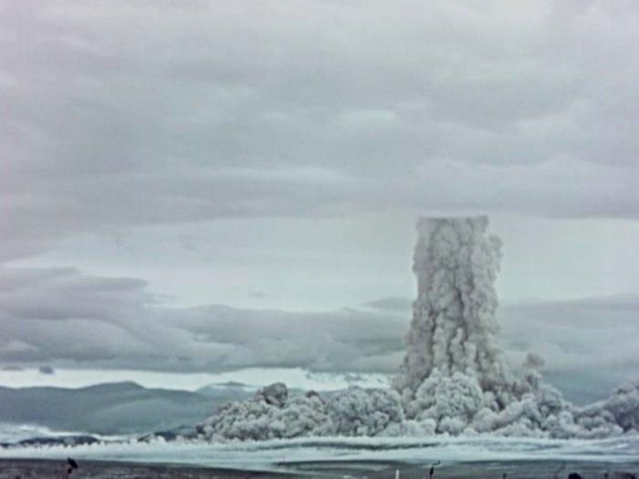 FOTO: Rekaman Rahasia Ledakan Hidrogen 'Tsar Bomba' 1961