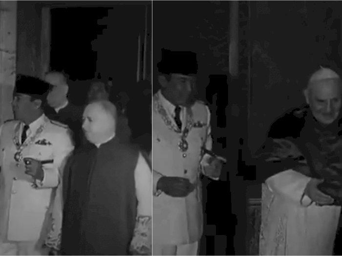 Tak Banyak yang Tau, Ini Video Langka saat Presiden Soekarno Berkunjung ke Vatikan