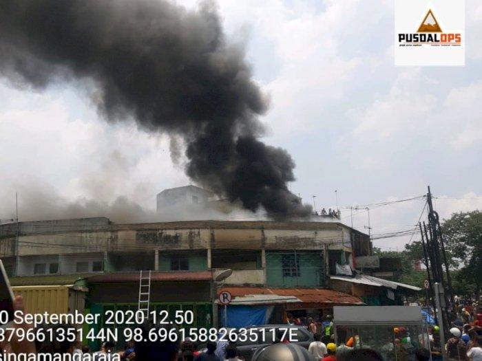 Empat Ruko di Simpang Limun Medan Terbakar, Ini Penyebabnya