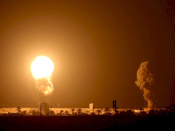 FOTO: Serangan Roket Oleh Pesawat Israel di Gaza
