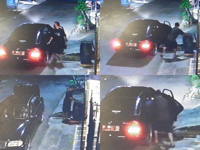 Aneh, Pengendara Mobil Mewah Terekam CCTV Ambil Tong Sampah Orang, Transaksi Narkoba?