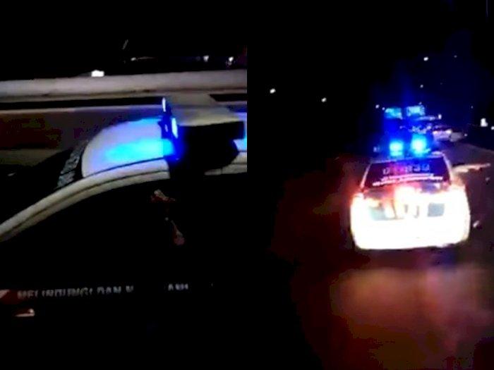 Bak Film Action, Sopir Truk Ini Kejar-kejaran dengan Polisi di Jalan Raya