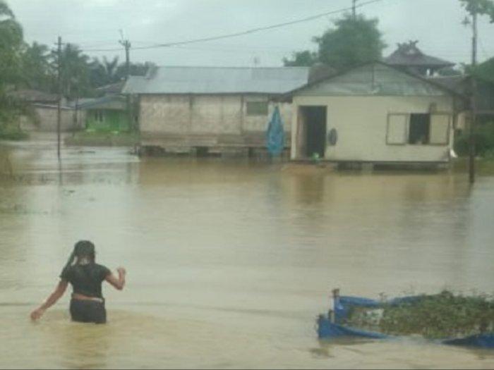 Hujan Deras Genangi Paya Prupuk Hingga Air Sepinggang Orang Dewasa