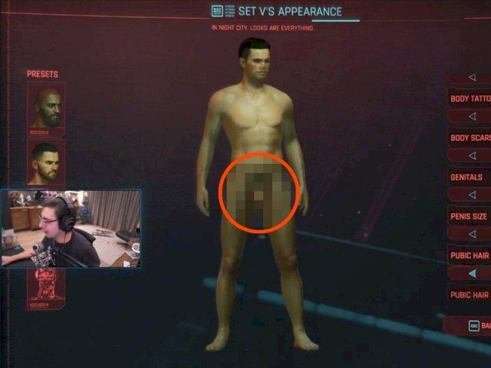 Streamer Shroud Terkejut Usai Lihat Fitur Kustomisasi Ukuran Penis di Cyberpunk 2077!