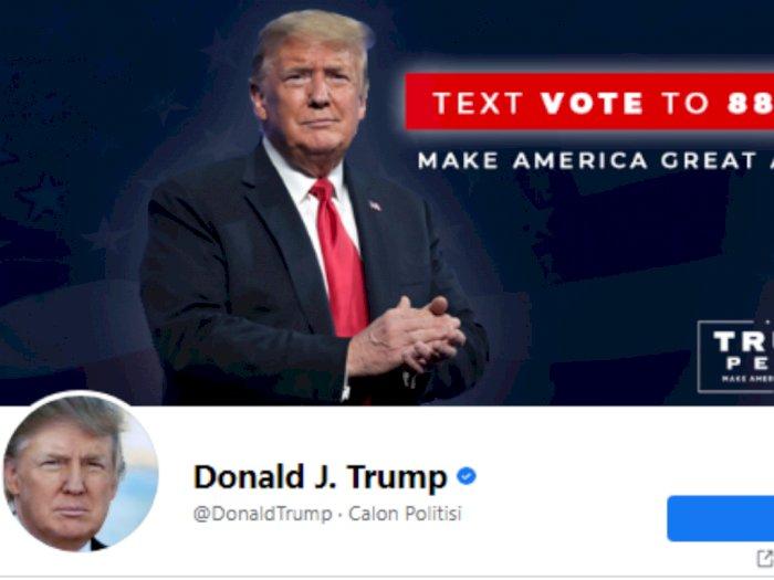 Facebook Juga Nonaktifkan Akun Donald Trump