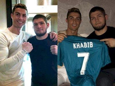 Sahabat Akrab, Khabib Nurmagomedov dan Cristiano Ronaldo Bercanda Lewat Panggilan Video