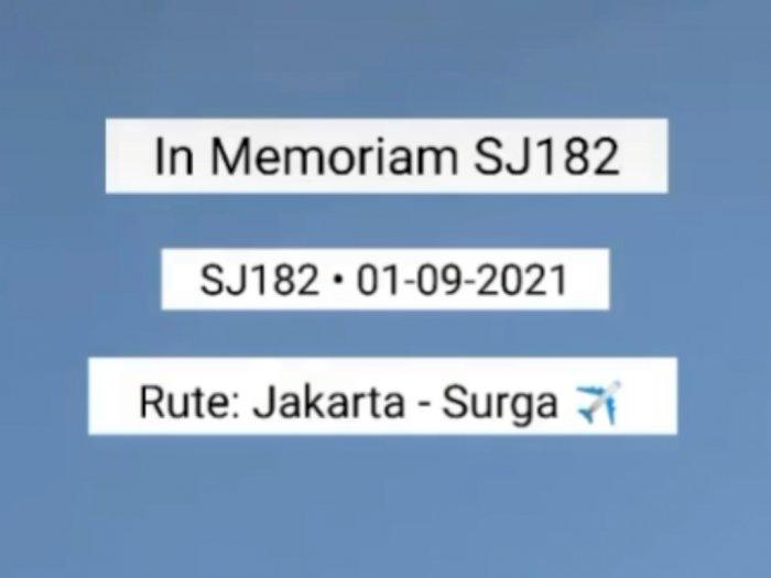 Netizen Buat Video In Memoriam Sriwijaya Air Rute Jakarta-Surga, Kata-katanya Sedih