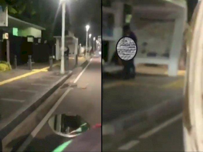 Polisi Periksa CCTV untuk Identifikasi Pasangan Mesum di Halte Jakpus