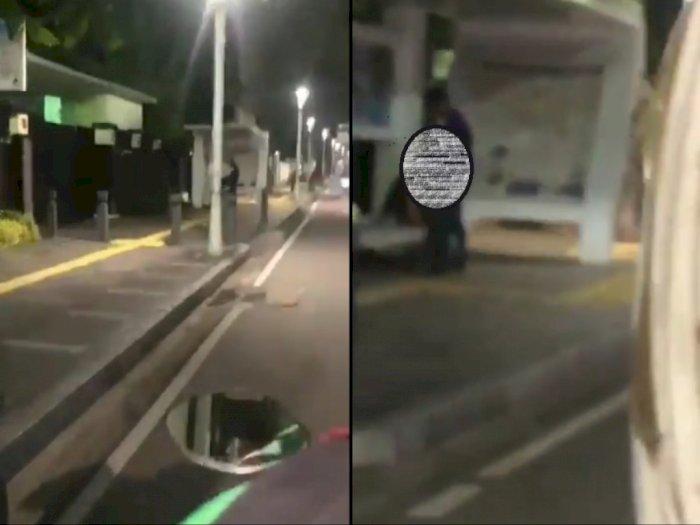 Viral! Pasangan Asusila di Halte Jakpus, Polisi Buru Para Pelaku