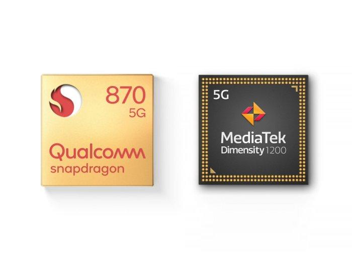 Melihat Perbandingan Chipset Snapdragon 870 5G dengan Dimensity 1200!