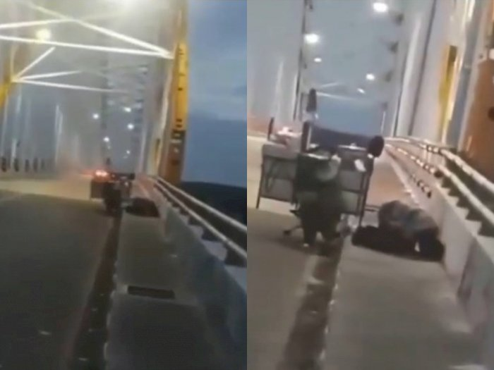 Bapak Ini Khusyuk Salat di Pinggir Jalan Walau Tanpa Sajadah, Banjir Doa dari Netizen