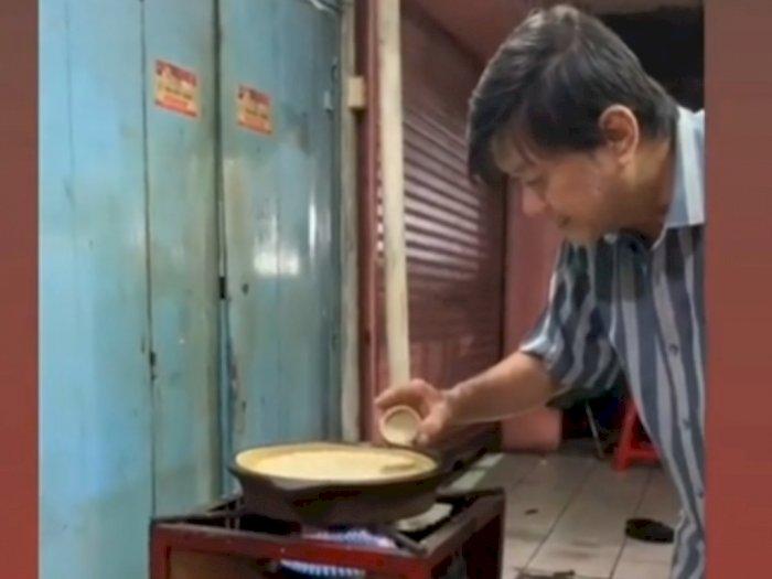 Viral Tukang Martabak Paling Teliti, Masak 1 Martabak 30 Menit, Tingkahnya Bikin Gemas