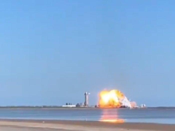Gagal Mendarat, Roket SpaceX Elon Musk Meledak saat Uji Coba, Begini Penampakannya