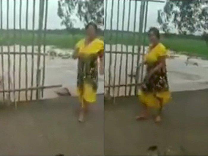 Viral Ibu-ibu Beri Respon Centil saat Ditegur karena Buang Sampah ke Sungai, Netizen Heran