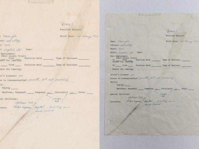 Surat Lamaran dengan Tulisan Tangan Steve Jobs Kini Sedang Dilelang!