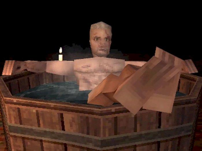 Seperti Ini Jika Scene Bathtub dari The Witcher 3 Hadir di PlayStation 1!