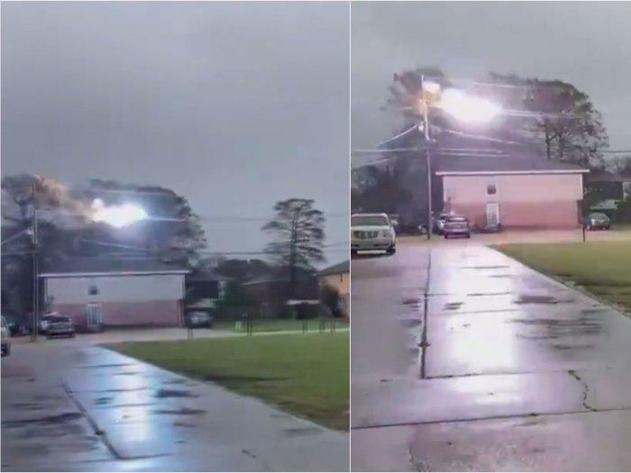 Ngeri! Detik-detik Kemunculan Api Biru di Kabel Listrik, Ribuan Rumah Jadi Gelap Gulita