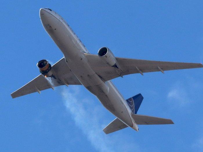 Mesin Pesawat Rusak, Boeing 777 United Airlines ini Mendarat dengan Selamat