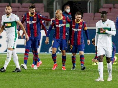 Bobol Gawang Elche 3 Kali, Barcelona Kembali ke Posisi 3 Klasemen La Liga