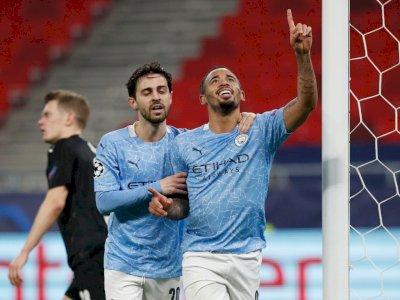 Hadapi Gladbach di Liga Champions, Man City Menang 2 Gol Tanpa Balas