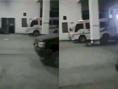Bikin Merinding! Mobil Ambulans Tiba-tiba Bunyi Sendiri di Area Parkir Tanpa Ada Orang