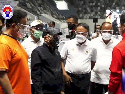 Wapres Ma'ruf Amin Tinjau Vaksinasi Covid-19 untuk Atlet di Istora Senayan
