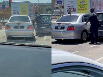 Detik-detik Petugas Tembak Ban Mobil Pengendara yang Tak Berhenti saat Akan Diperiksa