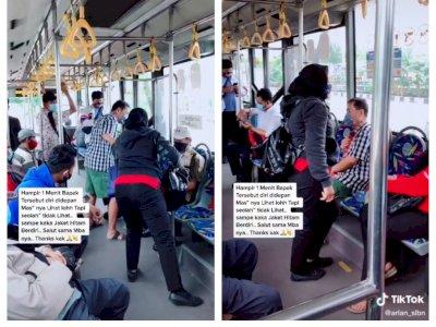 Wanita Ini Tak Tega Lihat Orangtua Diri di Dalam Bus, Padahal Ada Cowok Duduk di Depannya!