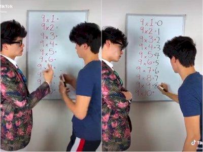 Video Pria yang Bagikan Tips Hitung Cepat Matematika Perkalian Sembilan, Bikin Terpukau