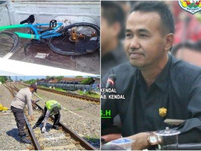 Mengenaskan Tubuh Anggota DPRD Kendal Muhammad Thohir Ditabrak Kereta Api saat Gowes