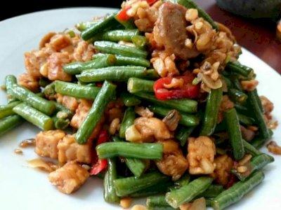 Menu Makan Siang Sederhana, Tumis Kacang Panjang, Jamin Bikin Nagih