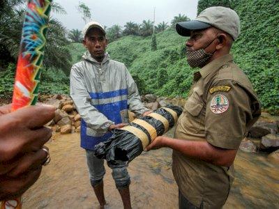 FOTO: Pembagian Mercon Untuk Mengusir Gajah Liar di Aceh Utara