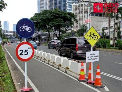 Polda Metro Imbau Pengendara Tak Lintasi Jalur Khusus Sepeda di Jakarta
