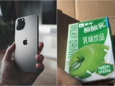 Apes! Beli iPhone Apple Terbaru Seharga Rp21 Juta , Wanita Ini Malah Dapat Satu Jus Apel