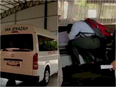 Sedih! Siswa Ini Pulang Sekolah Dijemput Ambulans untuk Antar Jenazah Ayahnya